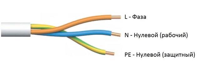 Цвет проводов в электропроводке в квартире, трехпроводная схема